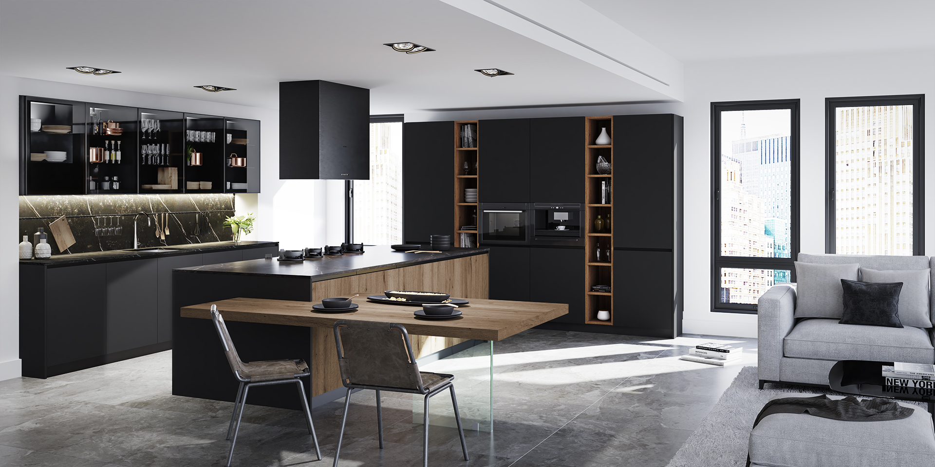 Cocina wooden+Fenix