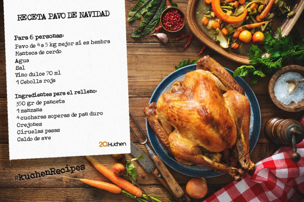 Receta de Navidad by 2aKüchen: Pavo relleno al horno #KüchenRecipes